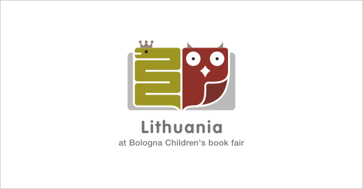 lithuania-children-book-fair-owl-snake-logo-design